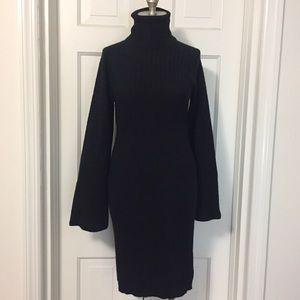 Vintage Kenar Turtleneck Sweater Dress S M